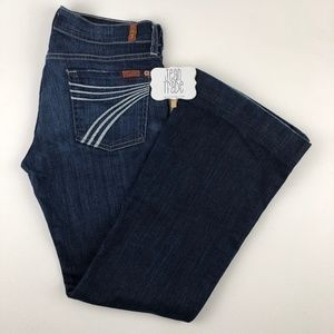 7 for all mankind dojo flare jeans 29x30